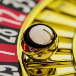 the cylinder of a roulette gambling in a casino. winning or losi